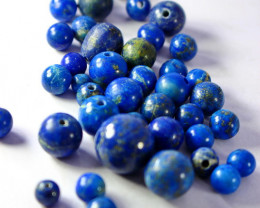200.55 CT Unheated ~ Natural Blue  color Lapis Beads