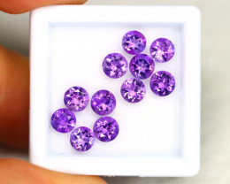 Amethyst 3.06Ct Calibrated Round 4.5mm Natural Purple Amethyst Lot C1907