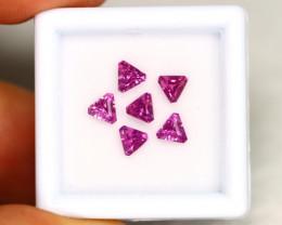 Grape Garnet 1.71Ct Calibrated Trillion 4.0x4.4mm Natural Garnet Lot C1911
