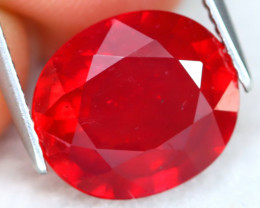 Red Ruby 6.31Ct Oval Cut Natural Pinky Red Ruby A1905