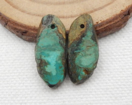 12cts Turquoise Earrings,Handmade Gemstone ,Turquoise Earrings  G716