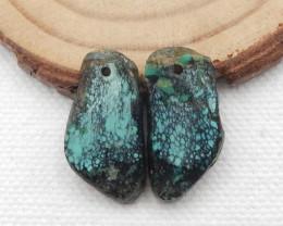 16cts Turquoise Earrings,Handmade Gemstone ,Turquoise Earrings  G729
