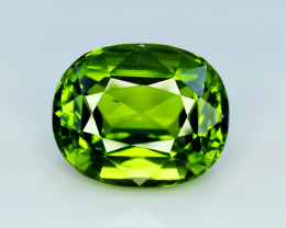 Peridot, 20.60 Ct Top Quality Oval Shape Peridot Gemstone