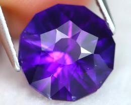 Uruguay Amethyst 3.00Ct VVS Round Cut Natural Violet Amethyst B1912