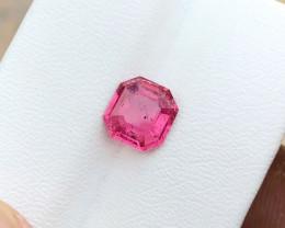 1.75 Ct Natural Red Transparent Tourmaline Ring Size Gemstone