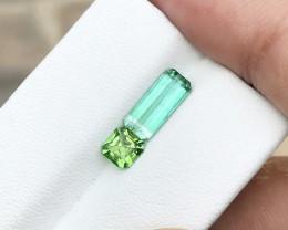 2 Ct Natural Green Transparent Tourmaline Gemstones Parcels