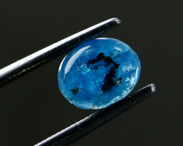 1.10 CT Natural ~ Unheated UV Light Color Change Blue Afghanite Cabochon