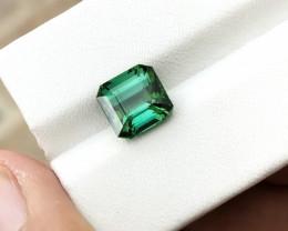 HGTL CERTIFIED 3.19 Ct Natural Greenish Blue Transparent Tourmaline Gemston