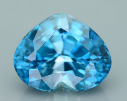 AAA Brilliance 4.97 ct Blue Zircon Cambodia SKU.11