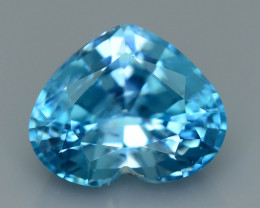 AAA Brilliance 6.43 ct Blue Zircon Cambodia SKU.11