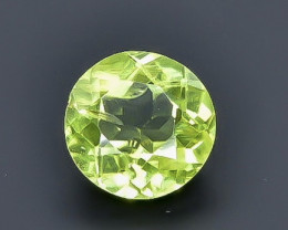 0.82 Crt Natural Peridot  Faceted Gemstone.( AB 78)