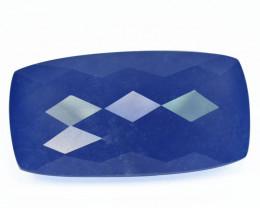 Rare Piece 46.51 Cts Natural Lavender Chalcedony Cushion Checker Board  Per