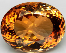 27.44 ct.100% Natural Earth Mined Top Quality Topaz Orangey Brown Brazil