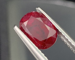 AIG 1.88 Cts Pigeon Blood Natural Ruby Top Quality Mozambique