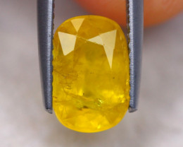 3.25Ct Natural Yellow Sapphire Oval Cut Lot B2036