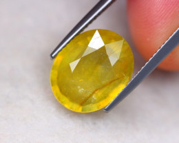 7.38ct Natural Yellow Sapphire Oval Cut Lot D576