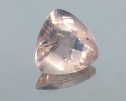 10.65 Carat VVS Rose Quartz Trillion Precision Custom Cut !