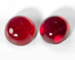 0.94  Cts 2pcs Pair Pinkish Red Natural Ruby Gemstone