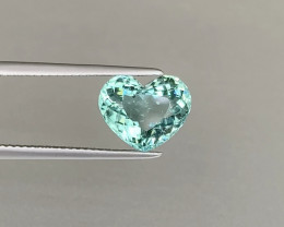 Sparkling Sea Foam Green Tourmaline Heart 3.21ct - Namibian Tourmaline