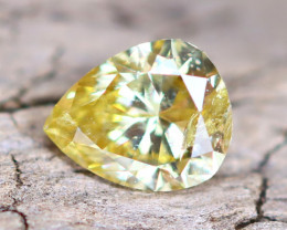 Yellow Diamond 0.30Ct Natural Fancy Diamond B2002
