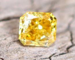Yellowish Orange Diamond 0.16Ct Natural Fancy Diamond B2009