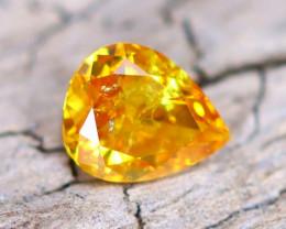 Orange Diamond 0.17Ct Natural Fancy Diamond B2012
