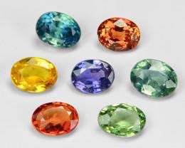 2.23 Carat 10 pcs Oval 3.99  x 2.00 mm Fancy Multi Color Sapphire Loose Gem