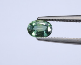 **No Reserve** 1.13ct Natural Blue-Green Sapphire