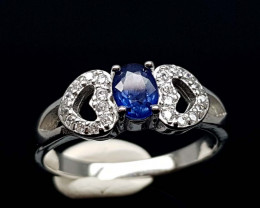 15.85CT NATURAL SAPPHIRE 925 SILVER RING IGCSR12