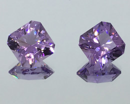 6.30 Carat IF Ameythst Master Cut Matched Pair 2 for 1 Price Spectacular !