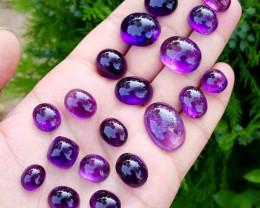 Amethyst Cabochons gemstones - Cabs - 245 carats - 21 pieces