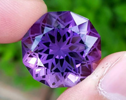 Amethyst Loose Gemstone Round Precision Cut - 28.20 carats