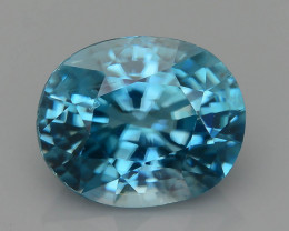 AAA Brilliance 3.69 ct Blue Zircon Cambodia SKU.11