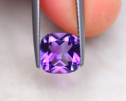 2.09ct Natural Purple Amethyst Cushion Cut Lot D404