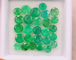 5.11ct Natural Zambia Green Emerald Round Cut Lot E62