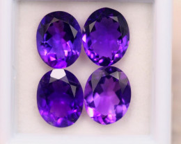 8.29ct Natural Purple Amethyst Oval Cut Lot E63