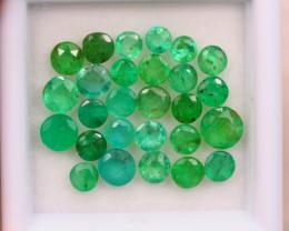4.81ct Natural Zambia Green Emerald Round Cut Lot E73