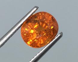 2.99 Carat Spessartite Mandarin Orange Namibia on Fire Flash!