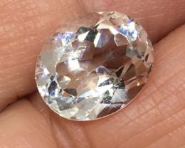5.70 Carat VVS Topaz - Diamond White Color Brilliant Flash !