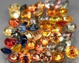 5.81 Ct. 2.9 mm Natural Fancy Color Sapphire Africa Diamond Cut - 48 Pcs