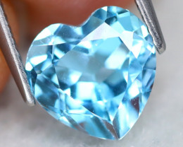 Sky Topaz 3.10Ct VS Heart Cut Natural Sky Blue Topaz B2104