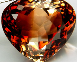 19.92 ct. 100% Natural Earth Mined Topaz Orangey Brown Brazil