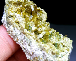Amazing Natural color Damage free Epidote combine with Lovely Diposite 200C