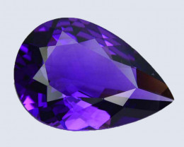 7.48 Cts Gorgeous Natural Purple Amethyst Pear Custom Cut