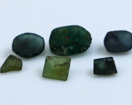 5.05 Ct Unheated ~ Natural  Greenish Bluue Sapphire Preform LOt