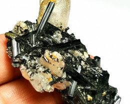 Amazing Natural color Damage free Black Tourmaline with Quartz 135Cts-P