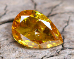 Yellowish Orange Diamond 0.30Ct Natural Fancy Diamond C2104