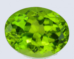 Amaging!!! 2.28 Cts Natural Peridot Stunning Green Oval Pakistan