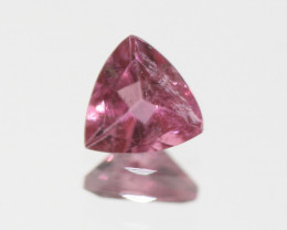 Pink Tourmaline Faceted Trillon 6.2mm.-(0.74ct).- SKU 217