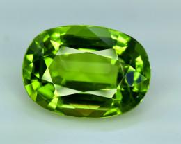 Peridot, 11.05 Ct Top Quality Oval Shape Peridot Gemstone